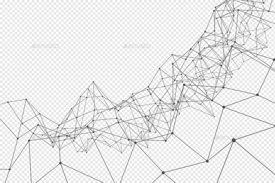 transparent outline polygon with connected dots