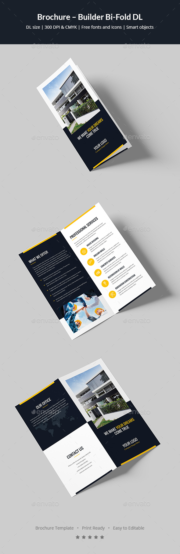 brochure builder bi fold dl by artbart graphicriver
