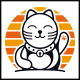 Lucky Cat Logo - GraphicRiver Item for Sale