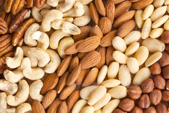 nuts background - Stock Photo - Images