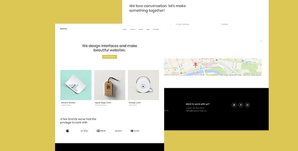 Bulona -- Minimal Portfolio & Agency Template