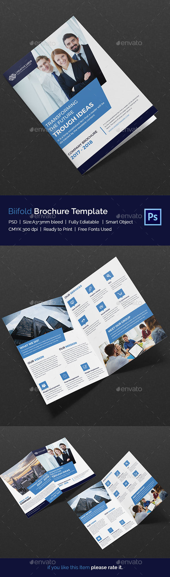 Bifold Brochure - Print Templates