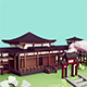 Low Poly Japanese Temple & Garden