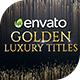 Luxury Golden Titles - VideoHive Item for Sale