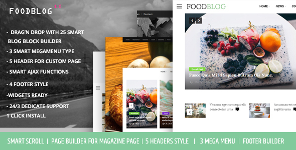 FoodBlog – Personal Blog and Magazine WordPress Theme (Personal) images