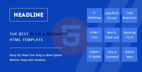 Headline, A Blog and Magazine HTML Template (Miscellaneous) images