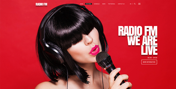 Radio FM HTML Bootstrap Template - Music and Bands Entertainment