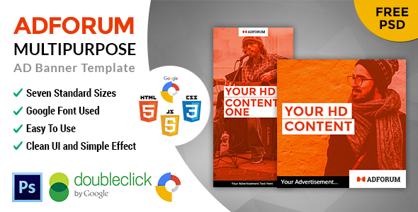 Adforum | Multipurpose HTML 5 Animated Google Banner - CodeCanyon Item for Sale