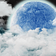 Clouds in the Background of the Big Moon - VideoHive Item for Sale