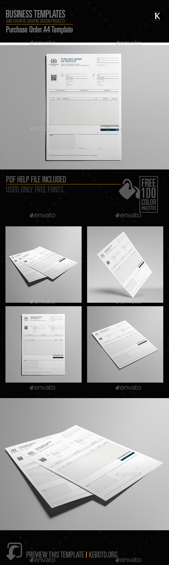 Purchase Order A4 Template - Miscellaneous Print Templates