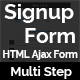 SignupForm - Multi Step Signup HTML5 Ajax Form