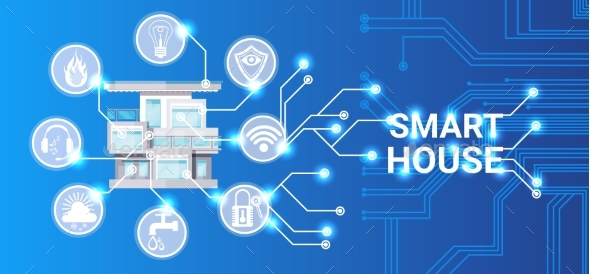 Wonderful Smart House Technology Control System Icon   Computers Technology