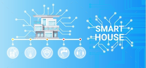 GraphicRiver Smart House Technology Control System Icon 20247370