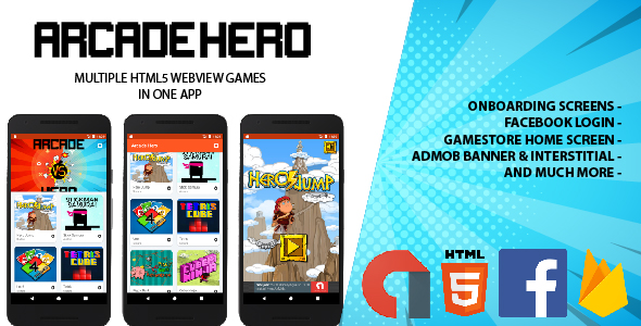 Arcade Hero - Multi Webview HTML5 Gamestore (AdMob & Firebase) - CodeCanyon Item for Sale