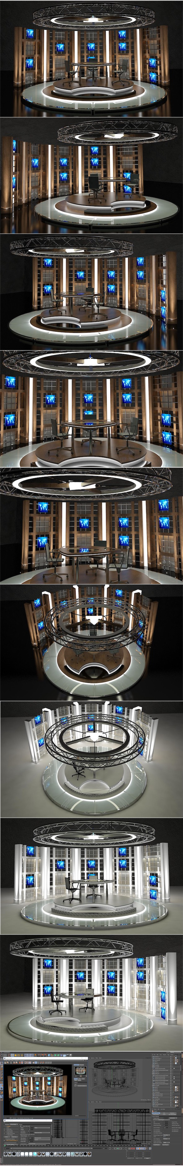 Virtual TV Studio Chat Set 17 - 3DOcean Item for Sale