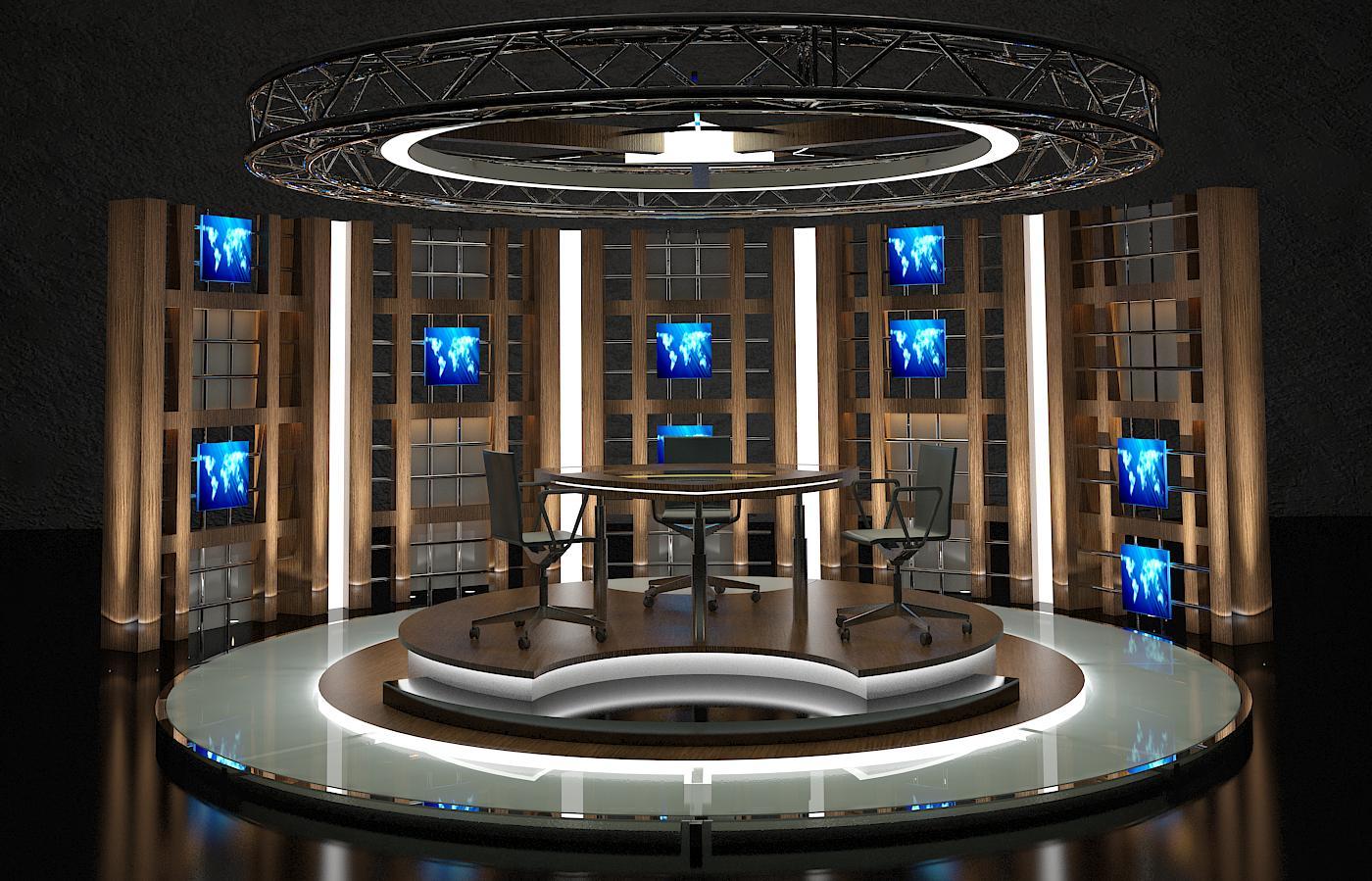 virtual tv studio chat set 17 by canan85