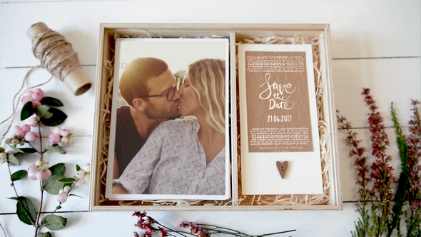 Wedding Invitation Box Special Events After Effects Templates