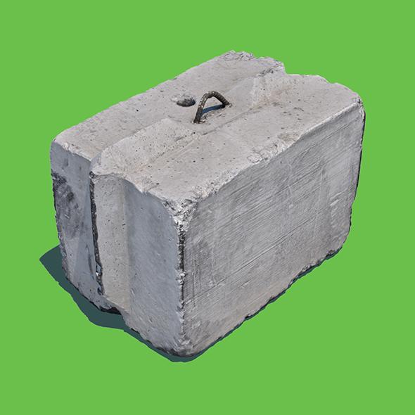 Concrete Block (3D Scan) - 3DOcean Item for Sale