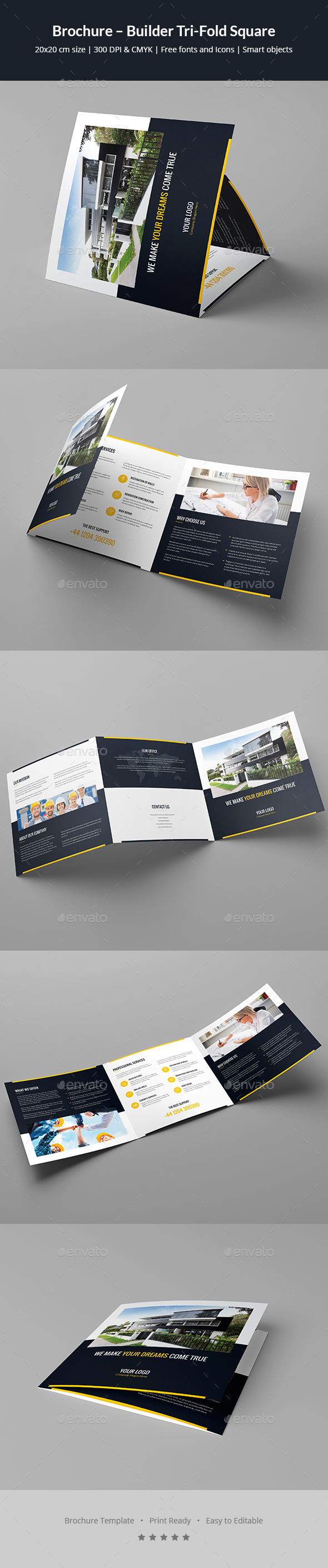 brochure builder tri fold square by artbart graphicriver