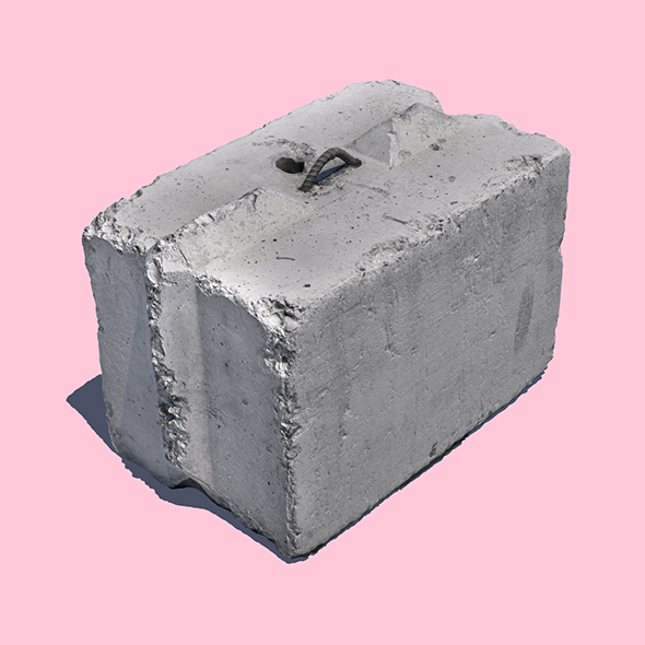 Another Concrete Block (3D Scan) - 3DOcean Item for Sale