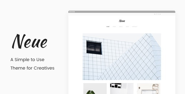Neue – A Simple Portfolio Theme (Creative) images