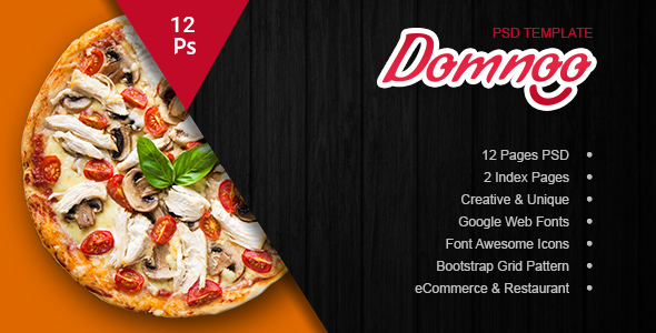 Domnoo Pizza & Restaurant PSD Template