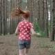 Little Ginger Girl Running
