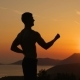 Young Man Training on Sunset - VideoHive Item for Sale