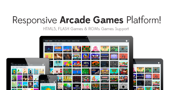 Responsive HTML5, Flash Games & ROMs Games Platform - Arcade Game Script - CodeCanyon Item for Sale