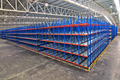 Distribution center warehouse storage shelving systems