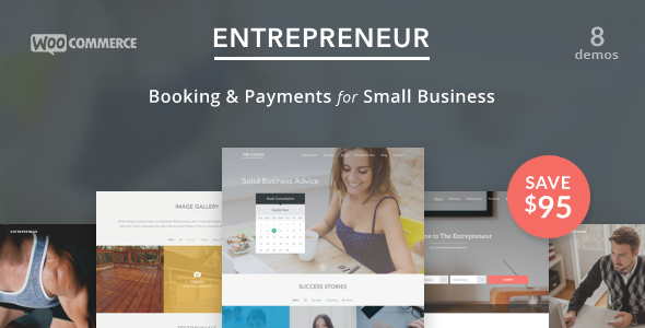 Entrepreneur - Booking for Small Businesses - Retail WordPress
