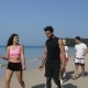 Runners Group Walk On Beach Resting Young Men And Women Athlete Talk Training Outdoors People - VideoHive Item for Sale