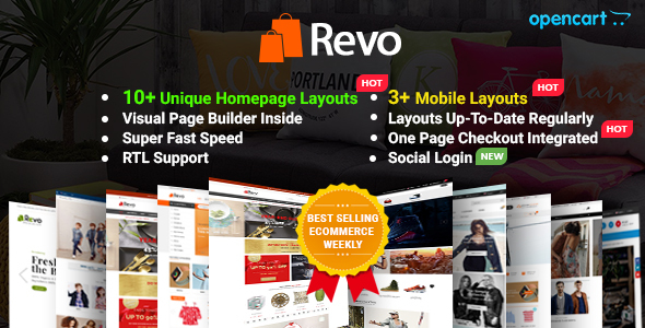 Revo - Drag & Drop Multipurpose OpenCart Theme with Mobile-Specific Layouts