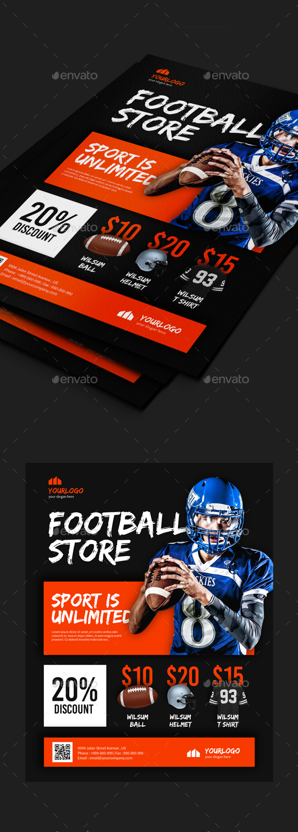 Sport Shop Flyer Templates - Commerce Flyers