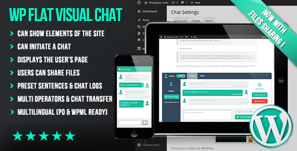 WP Flat Visual Chat - Live Chat & Remote View for Wordpress - CodeCanyon Item for Sale