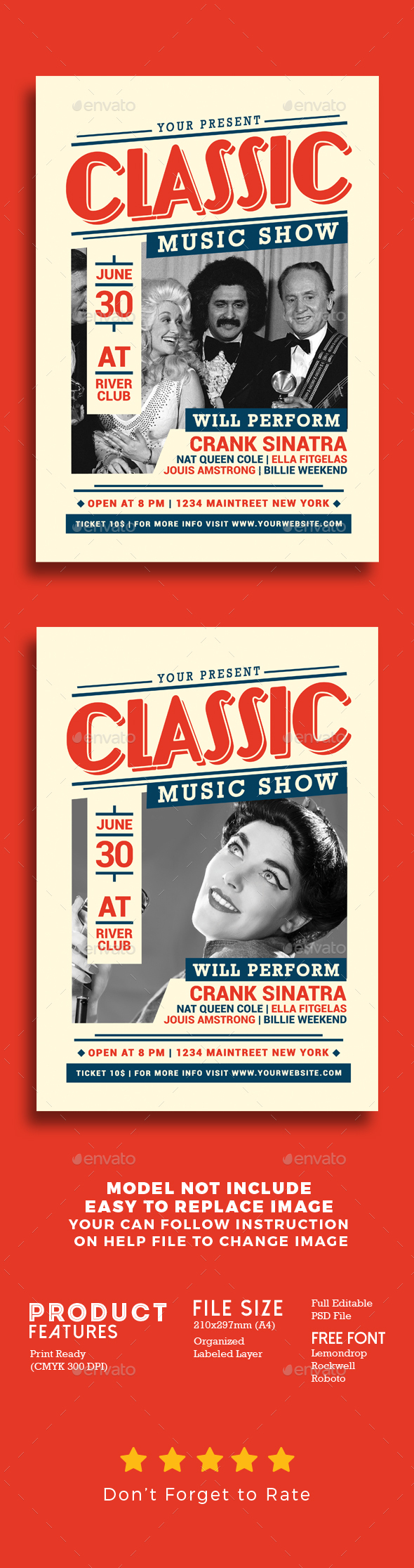 Classic Music Show - Events Flyers