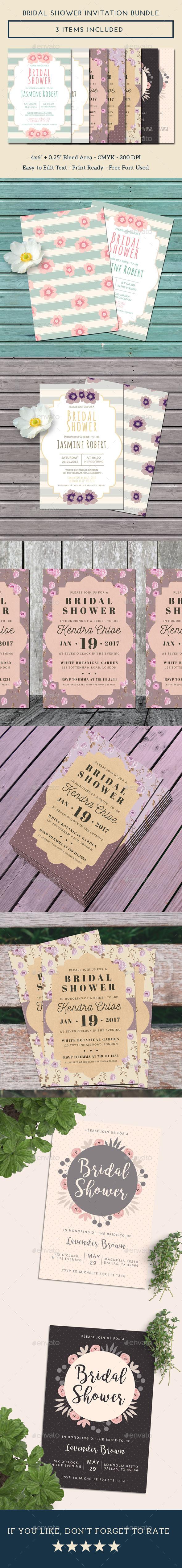Bridal Shower Invitation Bundle - Weddings Cards & Invites