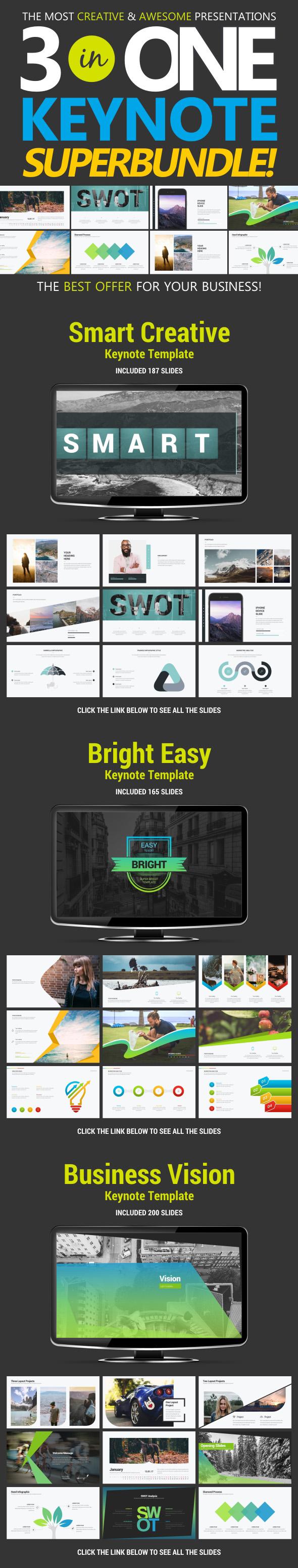 Business Bundle vol.1 - Business Keynote Templates
