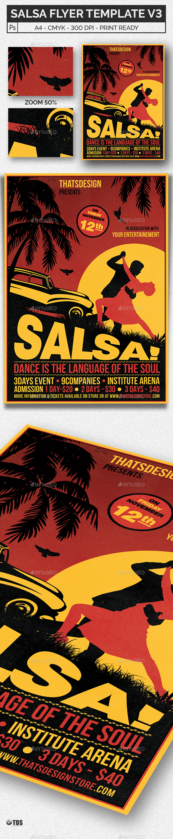 Salsa Flyer Template V3 - Events Flyers
