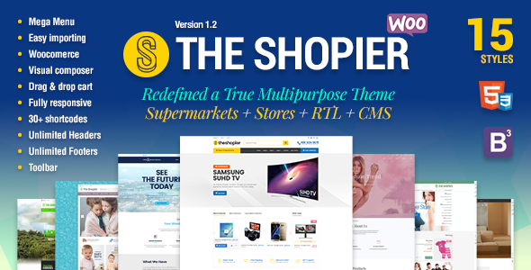 Shopier - Responsive Multipurpose WordPress WooCommerce Theme - WooCommerce eCommerce