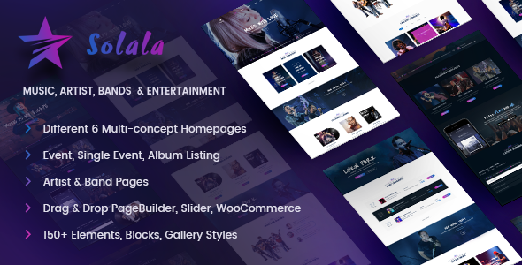 Music WordPress Theme | Solala Music - Music and Bands Entertainment