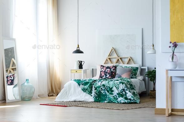 Bedroom interior design - Stock Photo - Images