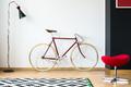 Red and stylish bike