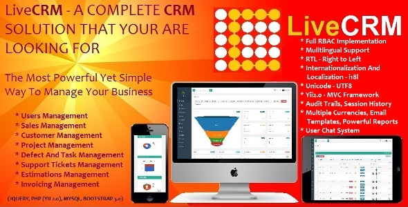 LiveCRM – Full Business enterprise Management Answer (PHP Scripts)