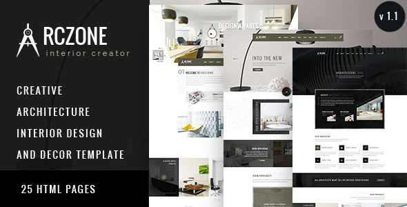 ARCZONE - Interior Design, Decor, Architecture HTML Template