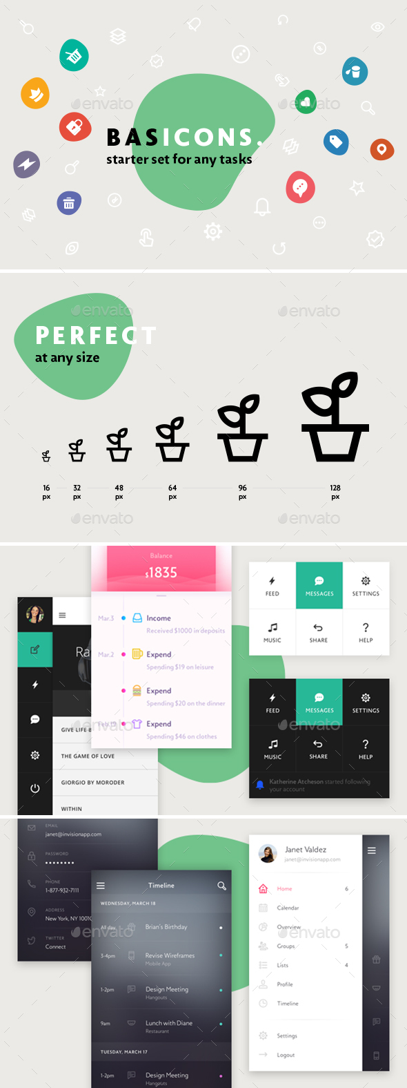 GraphicRiver Basic 500 Line and Solid Icons 20249238