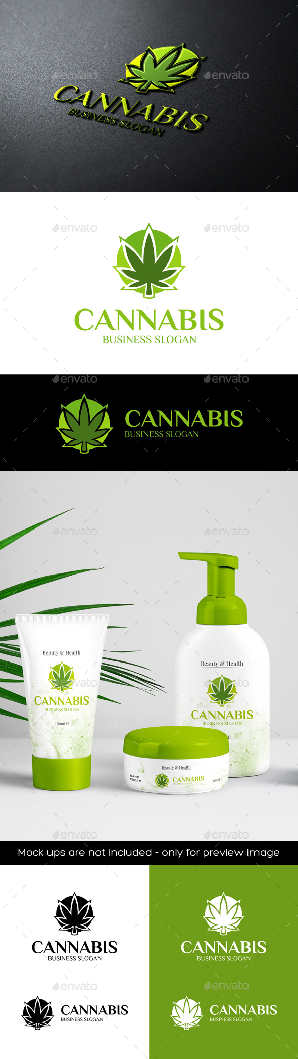 Cannabis Marijuana Logo - Nature Logo Templates