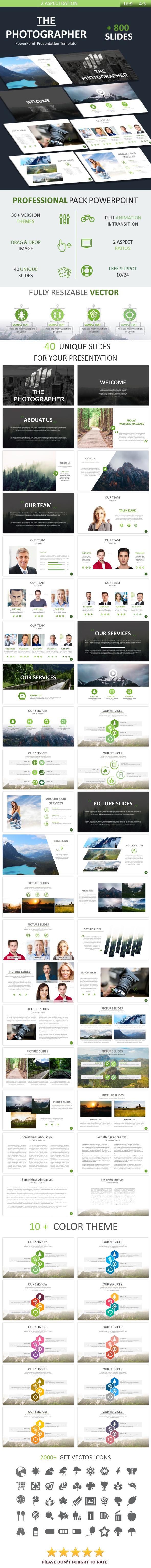 The Photographer Powerpoint Presentation Template - PowerPoint Templates Presentation Templates