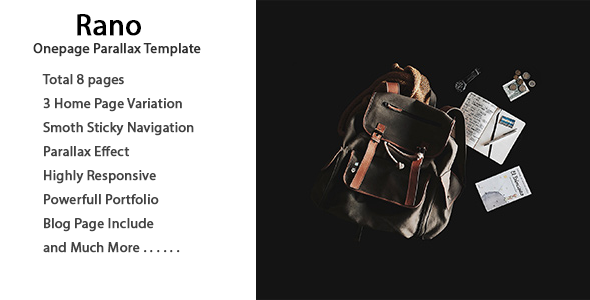 Rano | One Page Parallax HTML Template (Business) images