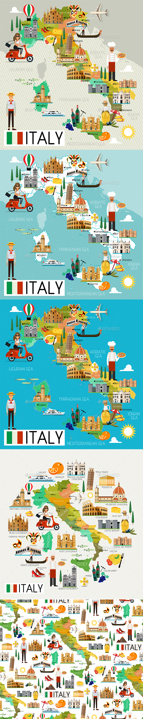 Italy Travel Set - Travel Conceptual